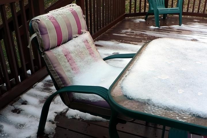 Storing plastic furniture in winter