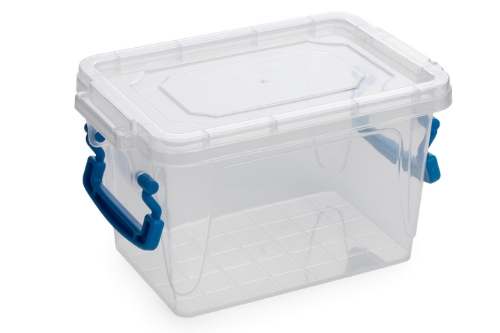 Use clear plastic bins instead of boxes