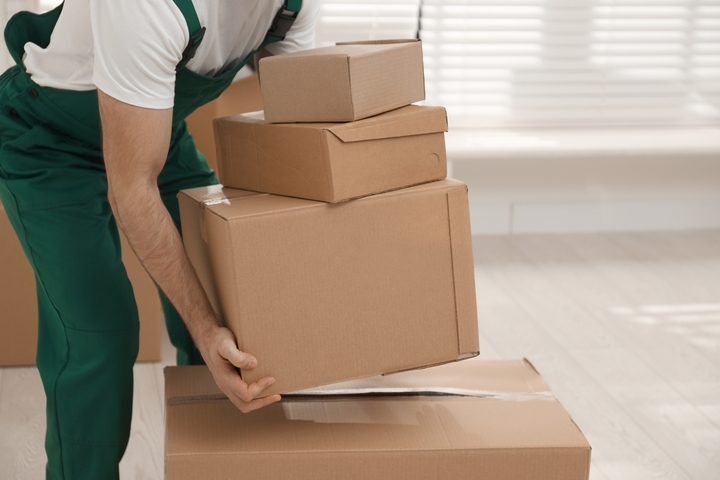 Stack your boxes safely and carefully.