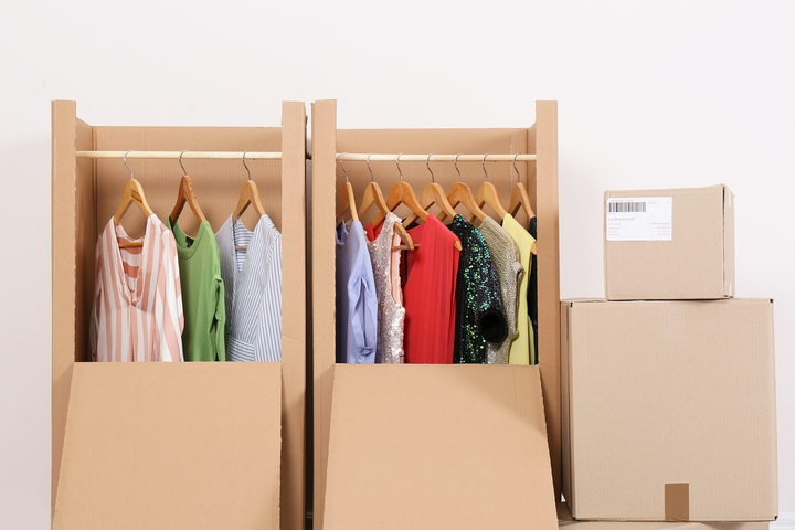 Use a wardrobe box for the clothes you don't want to fold.